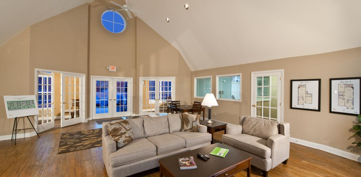 view of the clubhouse at the Village at Blue Hen