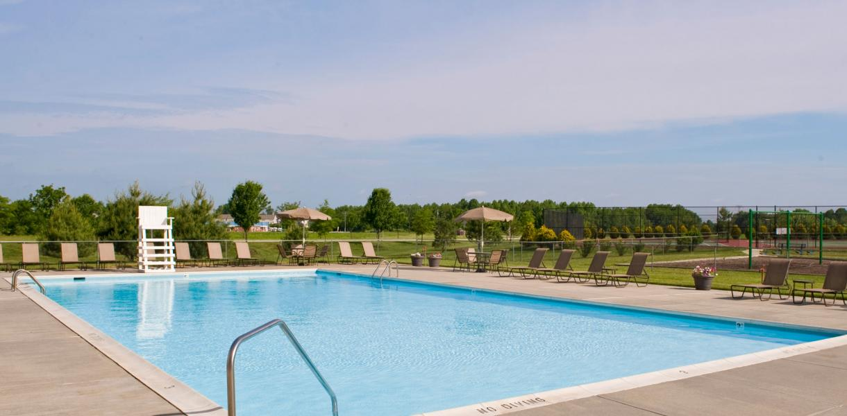 a photo of the pool at Rockwood Apartments