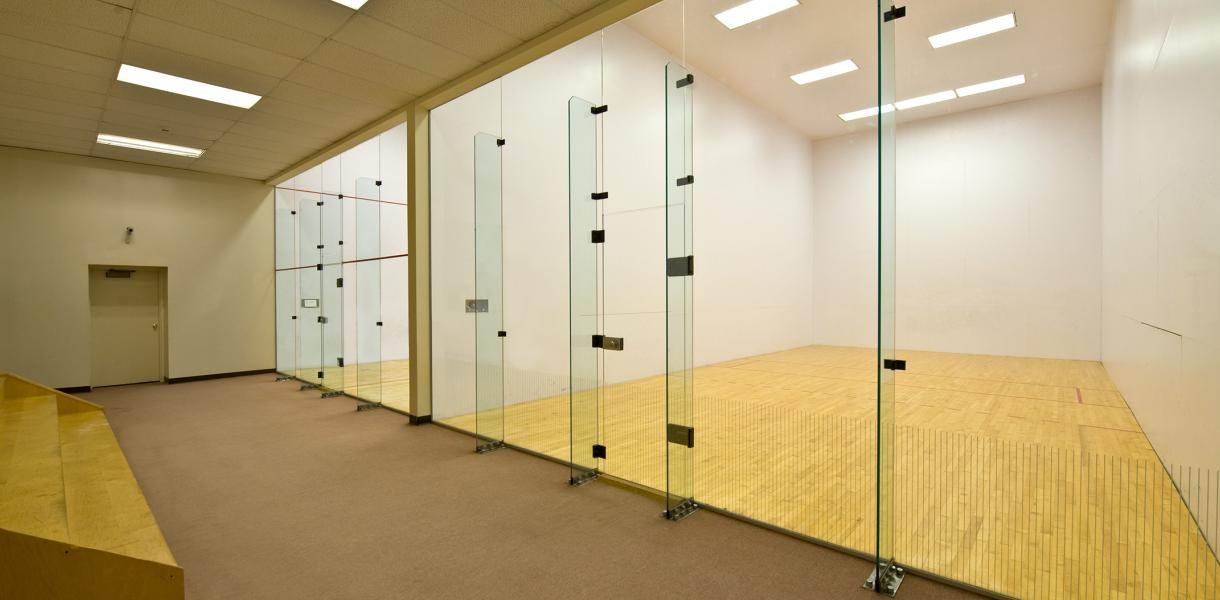 photo of the racquet ball court within Paladin Club Condominiums