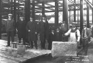 Image of people standing on the construction site, 1914-1916